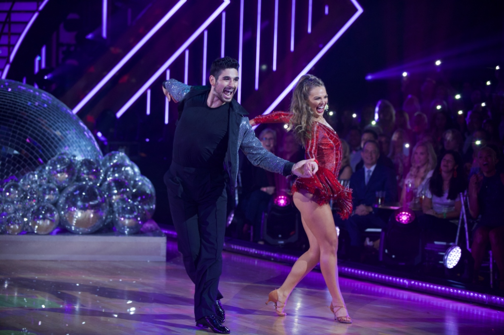 ALAN BERSTEN, HANNAH BROWN Dancing With the Stars Premiere Night Cha Cha Dance