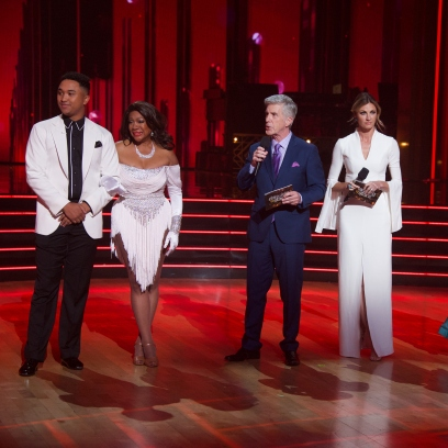 BRANDON ARMSTRONG, MARY WILSON, TOM BERGERON, ERIN ANDREWS, CHERYL BURKE, RAY LEWIS Dancing With the Stars First Elimination Who Went Home