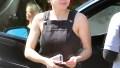 Ariel Winter overalls Lunch Beverly Hills