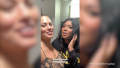 Ashley Graham and Lizzo backstage at her concert