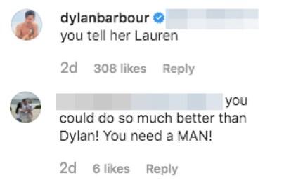 BIP Dylan Barbour Claps Back Fan Hannah G Do Better