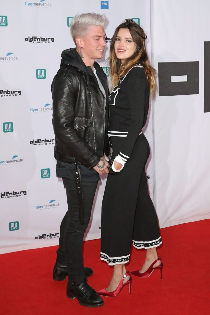 Benjamin Mascolo and Bella Thorne pack on the PDA on the red carpet of the Oldenburg Film Festival