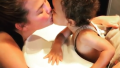 Chrissy Teigen and Her Son Miles Kissing