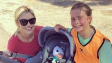 Christina Anstead Smiles with Son and Daughter at Soccer Game