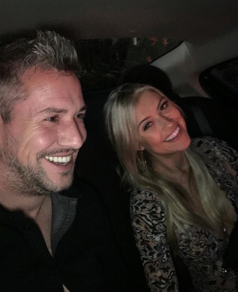 Ant and Christina Anstead in a Car