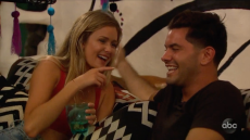 Hannah Godwin Laughing With Dylan Barbour on BIP