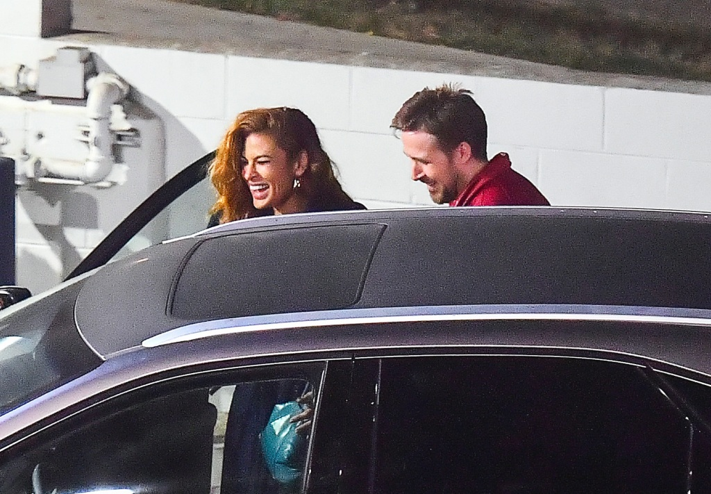 Eva Mendes and Ryan Gosling Out for Date Night