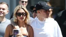 Justin Bieber Embracing Hailey Baldwin