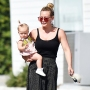 Hilary Duff Baby Banks Beauty Spa