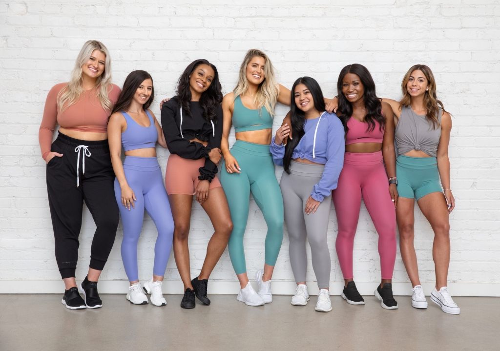 whitney simmons and friends at gymshark launch