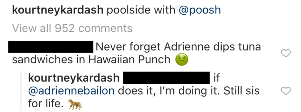 Kourtney Kardashian calls Adrienne Bailon Her Sis for Life