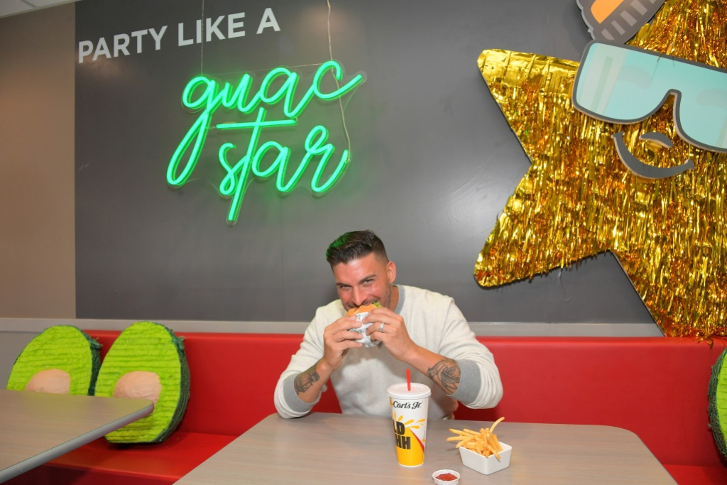 Jax Taylor Eating a Burger