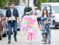 Jenna Dewan and Steve Kazee Take Everly to a Children's Birthday Party