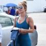 Jennifer Lopez Blue Workout Clothes Miami