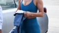 Jennifer Lopez Blue Workout Clothes Miami