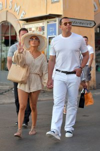 Jennifer Lopez and Alex Rodriguez Hit the Town in Saint-Tropez Rocking Coordinating Outfits