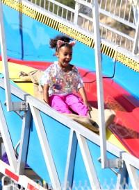 Kim and Kourtney Kardashian's kids play at the Malibu carnival