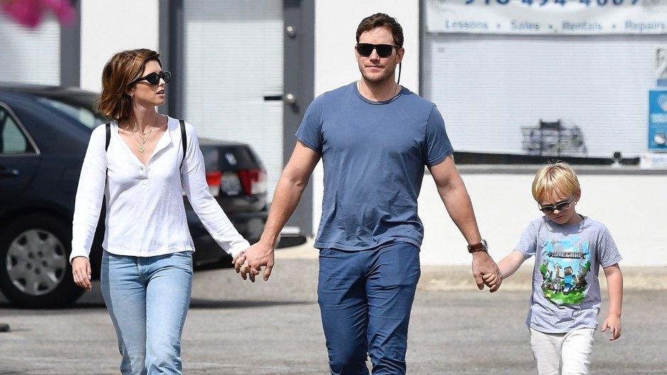 Katherine Schwarzenegger, Chris Pratt and His Son Jack Pratt All Hold Hands During Their Sunday Outing