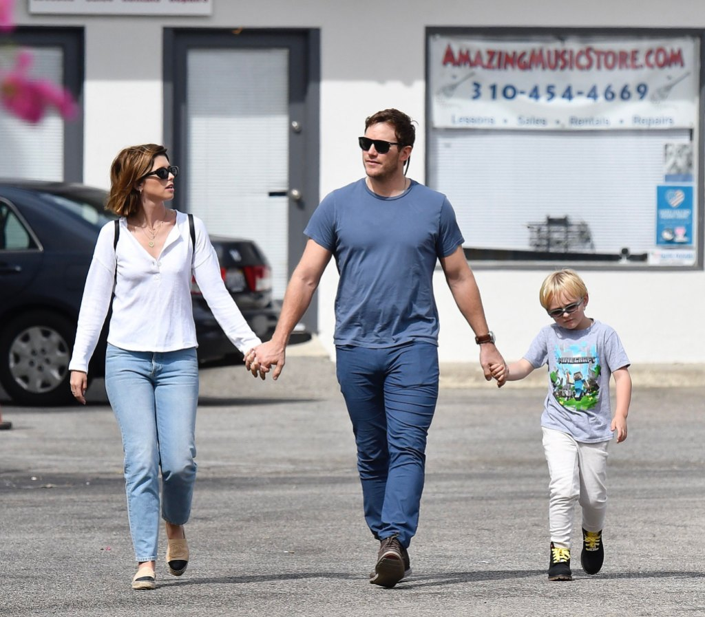 Katherine Schwarzenegger, Chris Pratt and His Son Jack Pratt All Hold Hands During Their Sunday Outing