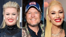 Kelly Clarkson Jokes Blake Shelton Gwen Stefani The Voice