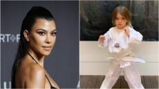 Side by Side Photo of Kourtney Kardashian and Reign Disick