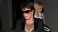 Kris Jenner is dressed in all black as she dines at LA hot spot Craig's