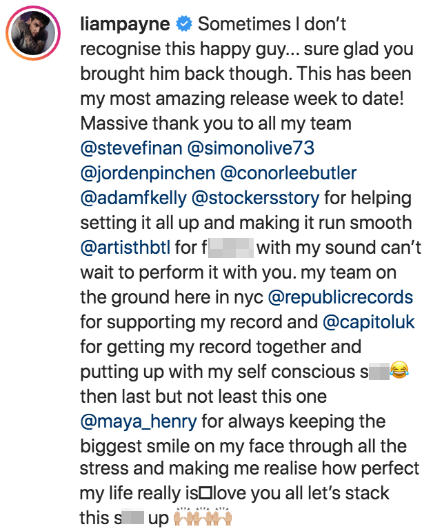 Liam Payne Instagram Official GF Maya Henry