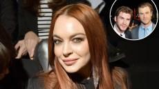 Lindsay Lohan Hitting on Hemsworth Brothers
