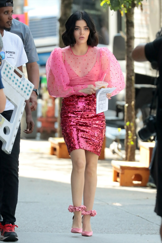 Lucy Hale Spotted on the Set of Katy Keene