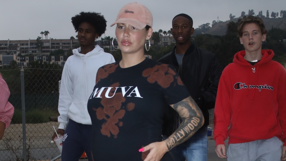 Pregnant Amber Rose Attends Malibu Chili Cook off