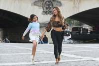 Farrah Abraham and Sophia Laurent Hold Hands by River Siene in Paris France
