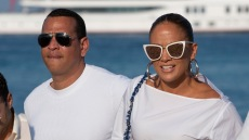 Jennifer Lopez and Alex Rodriguez Vacation in Saint Tropez France for Magic Johnsons 60th Birthday
