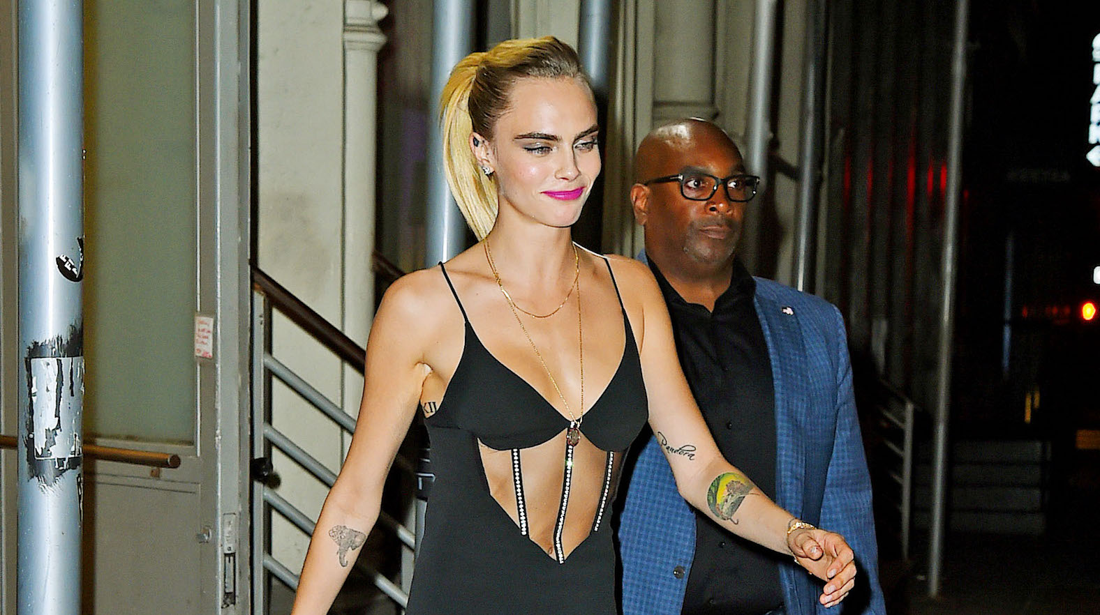 Cara Delevingne Rocks a Trendy Minidress During a Night Out in NYC