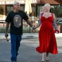 Pregnant Amber Rose Shows Baby Bump in Red Dress While Out With Alexander Edwards