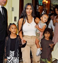 Kim Kardashian and Kanye West take their kids for lunch at the Cipriani in NYC Amid Jesus Is King Show in Queens