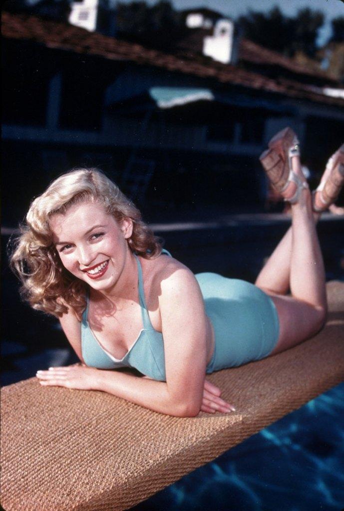Marilyn Monroe Blue Swimsuit