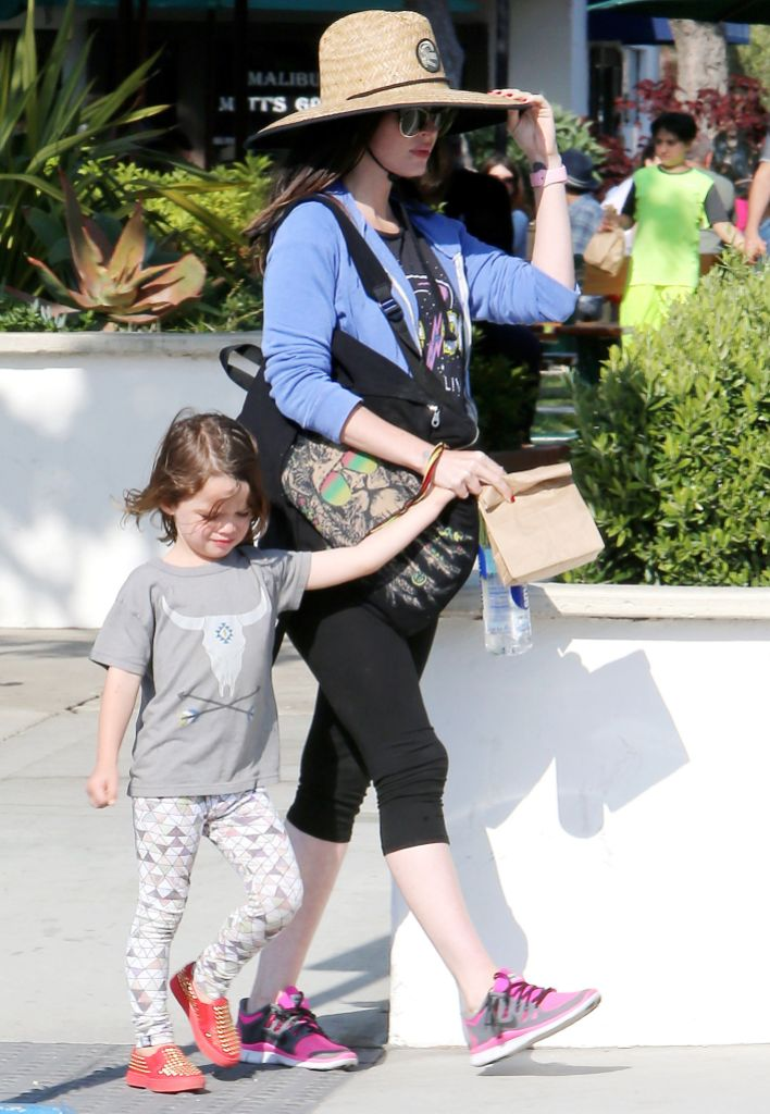 Megan Fox and her son Noah out and about