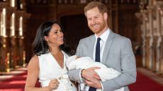 Meghan Markle and Prince Harry holding their son, Archie
