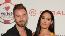 Nikki Bella and Artem Chigvintsev at the 9th Annual Variety Charity Poker & Casino Night