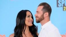 Nikki Bella and Artem Chigvintsev at the 2019 Kids Choice Awards