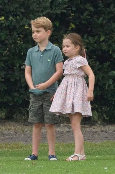 Prince George and Princess Charlotte at King Power Royal Charity Polo Day