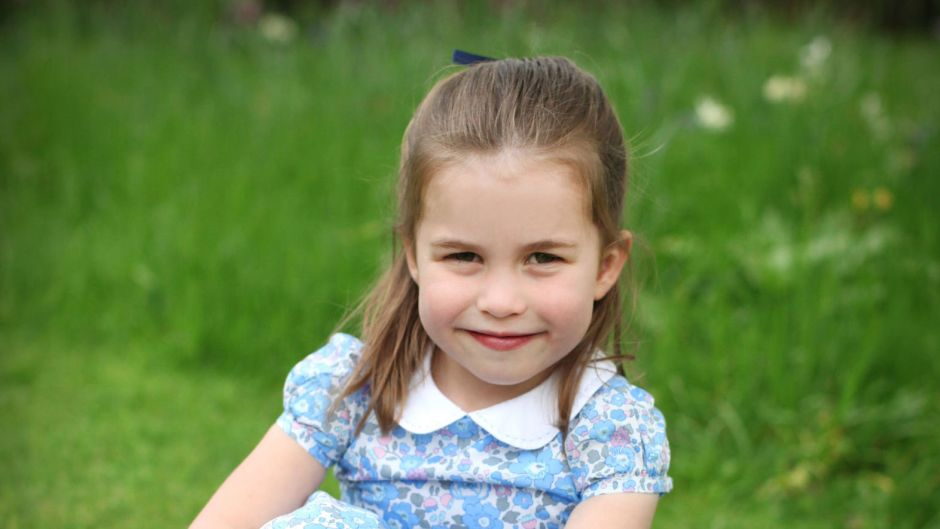 Princess Charlotte Posing in the Grass