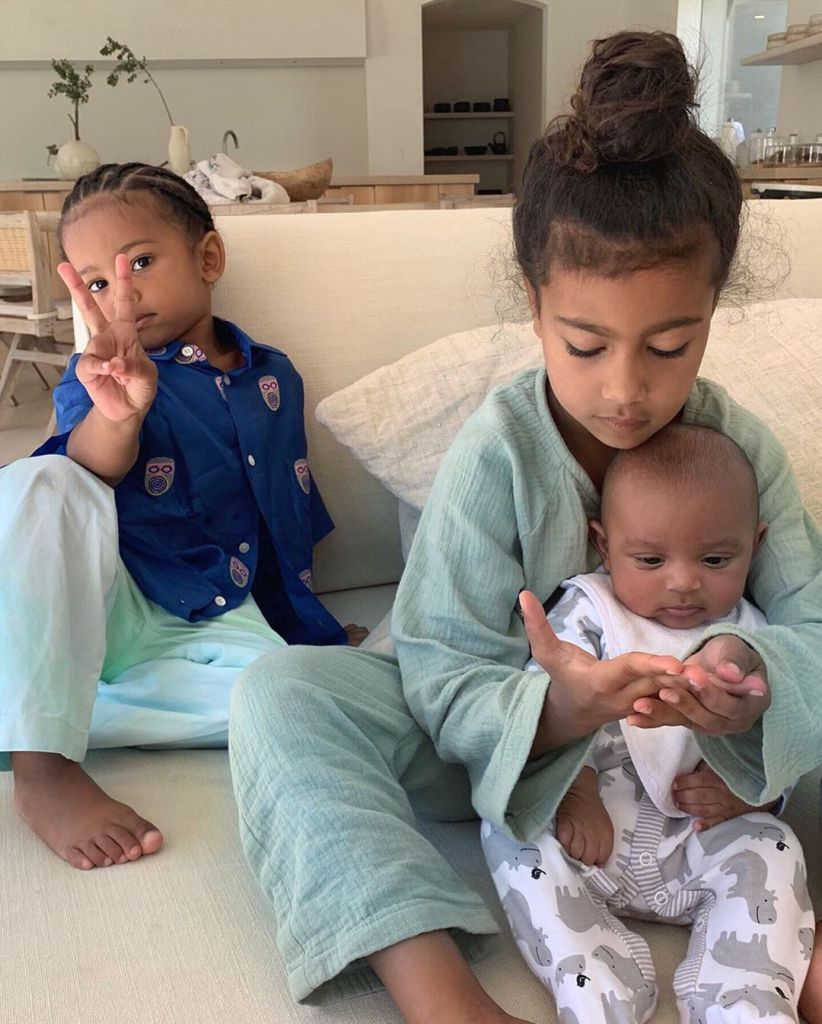 Saint West, North West, and Psalm West
