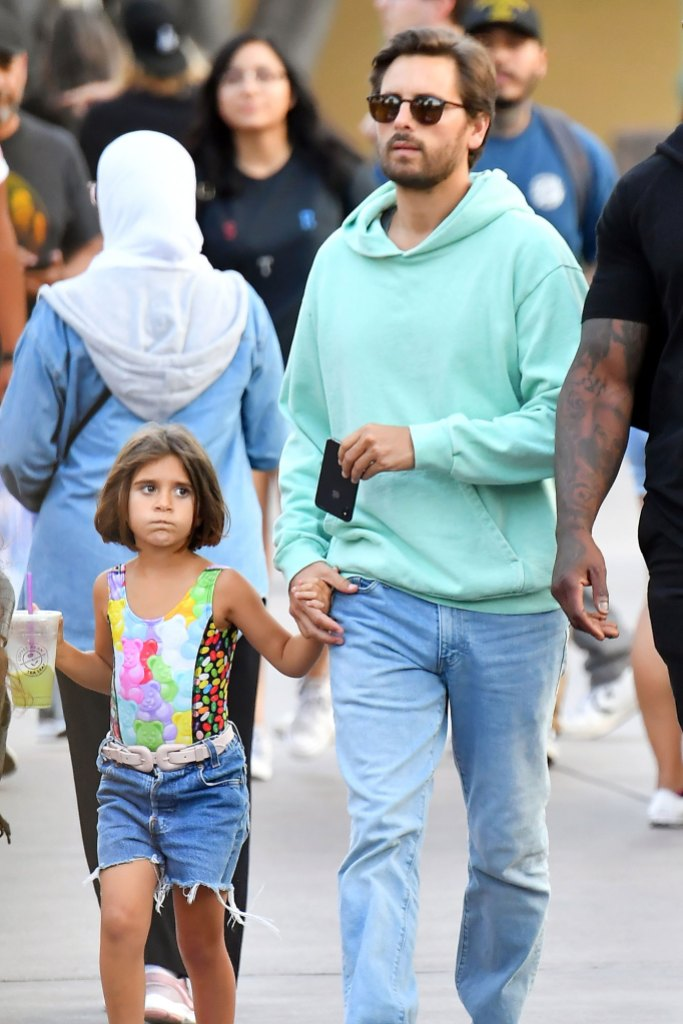 Scott Disick celebrate their daughter Penelope's 7th birthday at Disneyland