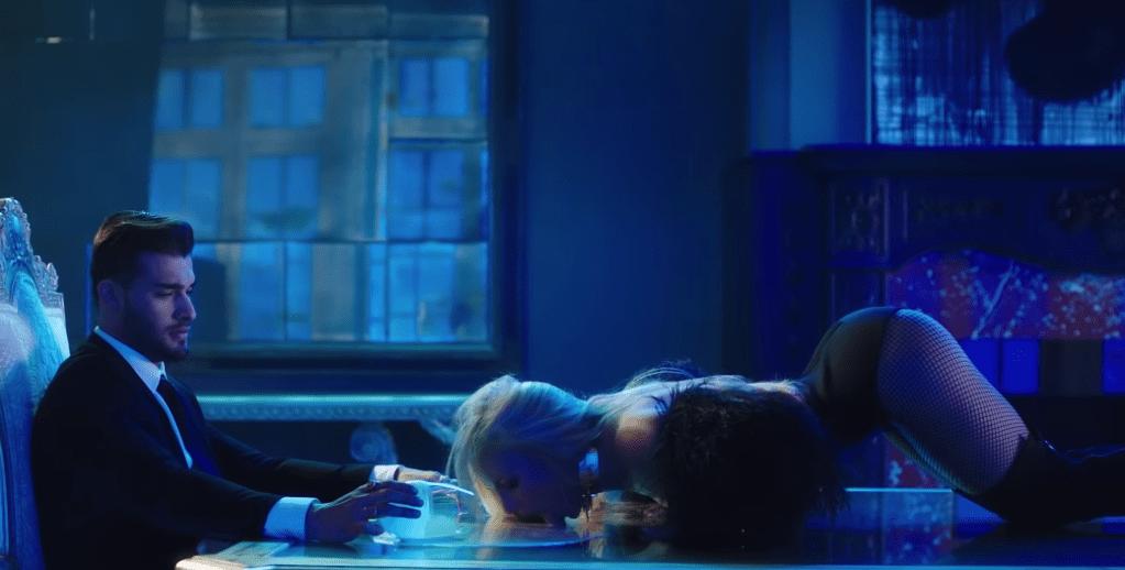 Britney Spears' Boyfriend Sam Asghari in Slumber Party Music Video
