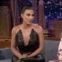 Kim Kardashian and Winnie Harlow on Jimmy Fallon
