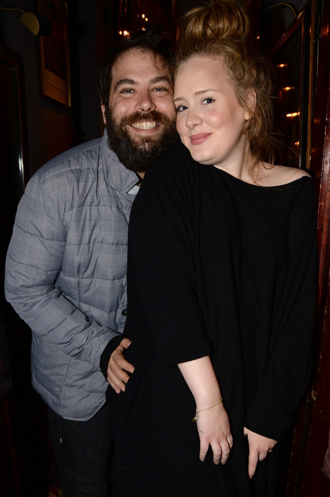 ADELE and Simon Konecki Pose Smiling