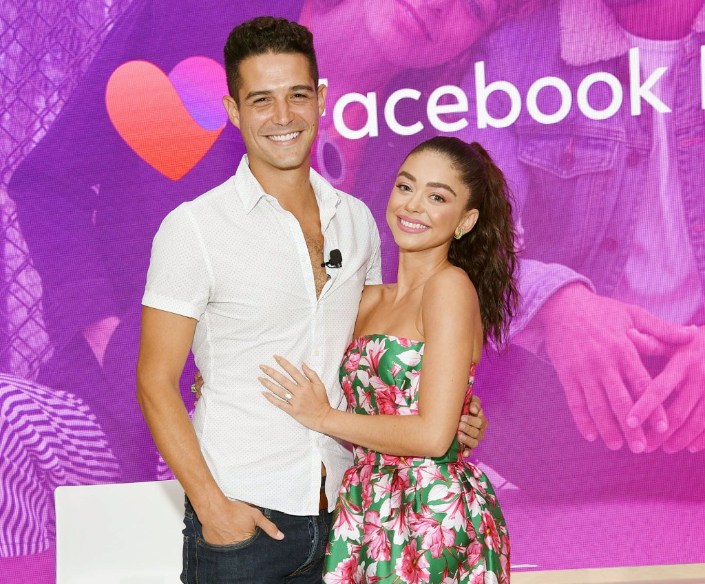 Wells Adams and Sarah Hyland at the Launch of Facebook Dating
