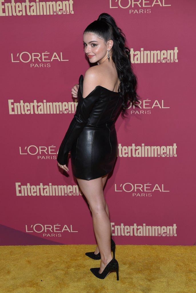 Ariel Winter in a Leather Dress