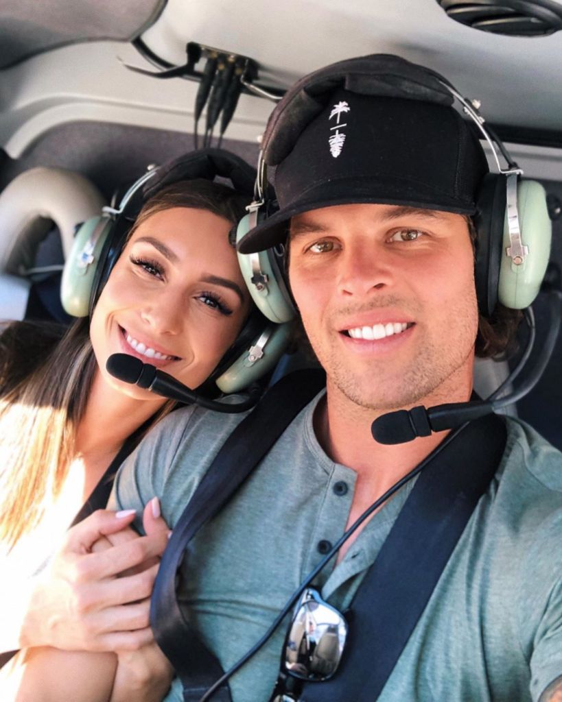 Astrid Loch and Kevin Wendt Helicopter Selfie